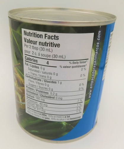 canned nopalitos